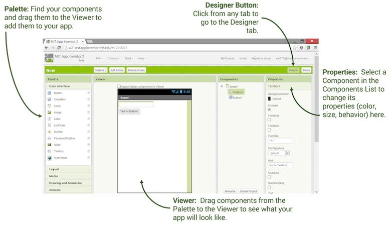 Pantalla d'edició de programació de l'aplicació