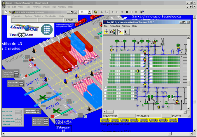 Simulation Of The Implementation Of A Fleet Of Agv In The