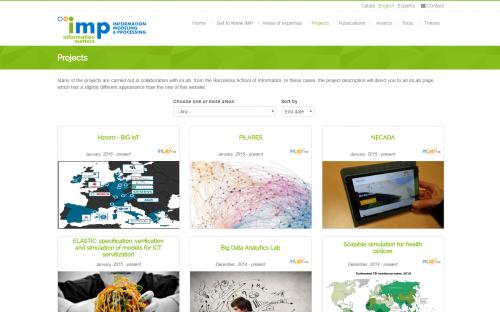 Captura de pantalla web IMP