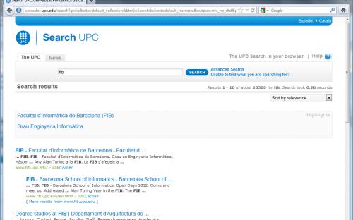 Buscador UPC