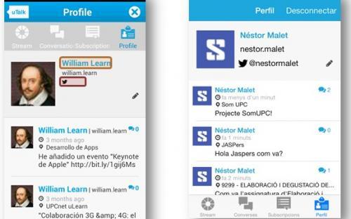 Perfils de l'usuari a les diferents vesions de l'App