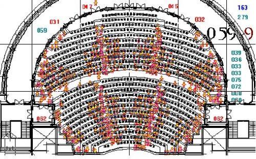 Estudio del proceso de evacuaci n de la sala grande del for Teatre nacional de catalunya