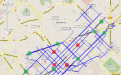 Paths with higher flow of traffic - Eixample