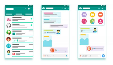 Wireframe apps de comunicació col·laborativa