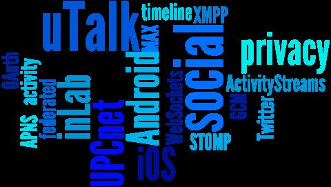 UPCnet uTalk tagcloud