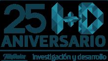 Logo 25 aniversario telefónica I+D