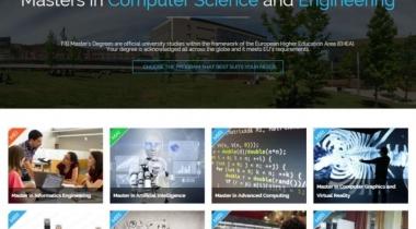 Portada web masters.fib.upc.edu
